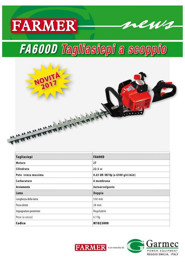 Nuovo tagliasiepi FA600D