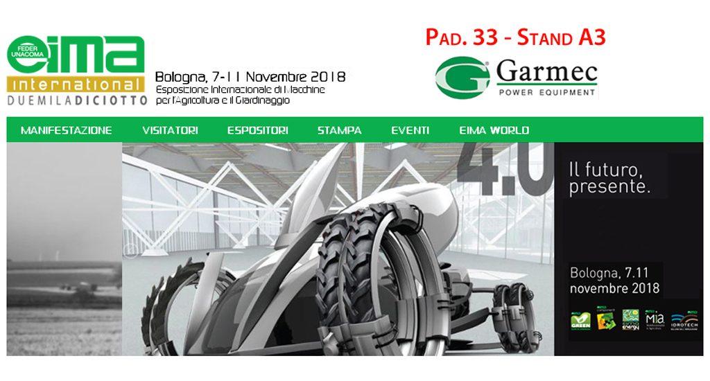 Garmec partecipa alla prossima Edizione di Eima 2018 a Bologna - 7-11 Novembre _ Vi aspettiamo al padiglione 33 stand A3